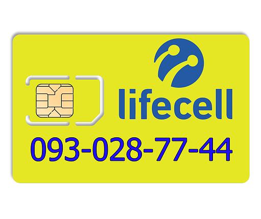Красивый номер lifecell 093-028-77-44, фото 2