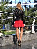 Женская кожаная куртка Fabio Monti, с кармашком, 42 ( 42, 44, 46, 48 ) черный, кожа 001, фото 4