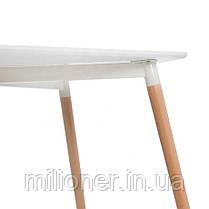 Столик Bonro В-950-1200 + 4 белых кресла В-173, фото 3