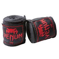 Бинты боксерские Venum, 3м черные