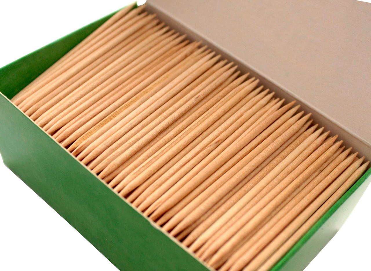 Зубочистки БЕРЁЗОВЫЕ 800шт в картонной упаковке