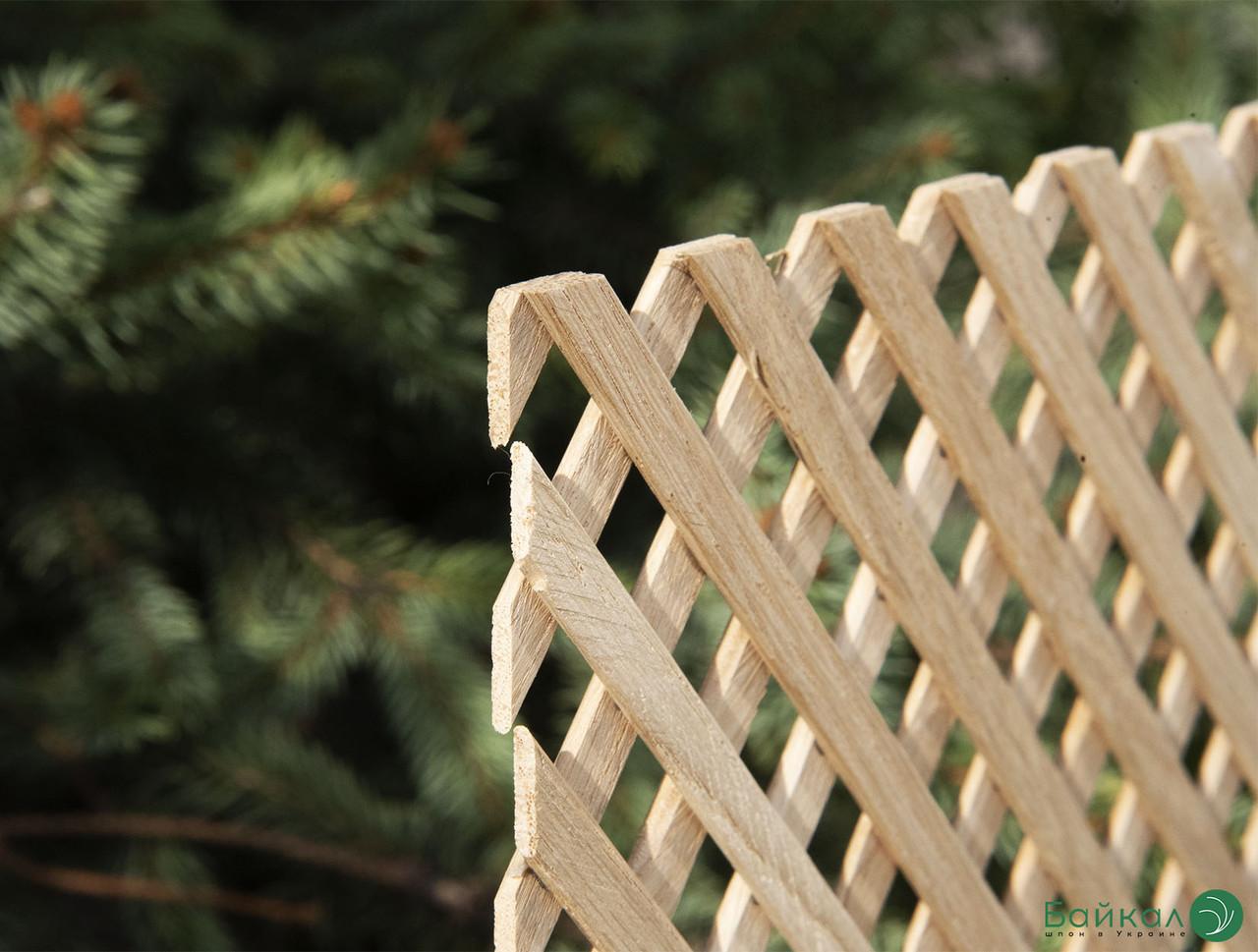 Дерев'яна декоративна решітка — 8R (Вільха, Бук, Клен, Ясень, Дуб)