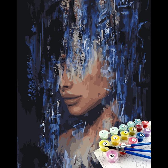"""Картина по номерам Идейка Портрет-абстракция ''Интрига творца"""" 40х50см Бесплатная Доставка Justin"""