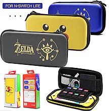 Защитный чехол-кейс для Nintendo Switch Lite с рисунками / Стекла есть в наличии /