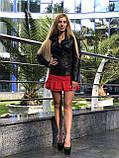 Женская кожаная куртка Fabio Monti, приталеная, 42 ( 42, 44, 46 ) черный, кожа 003, фото 4