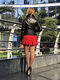 Женская кожаная куртка Fabio Monti, приталеная, 42 ( 42, 44, 46 ) черный, кожа 003, фото 6