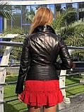 Женская кожаная куртка Fabio Monti, приталеная, 42 ( 42, 44, 46 ) черный, кожа 003, фото 9