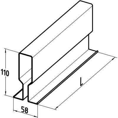 Размеры усиливающего профиля для ворот Alutech