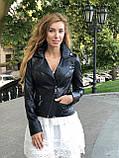 Женская кожаная куртка Fabio Monti, с молниями, 42 ( 42, 44, 46, 48 ) черный, кожа 004, фото 4