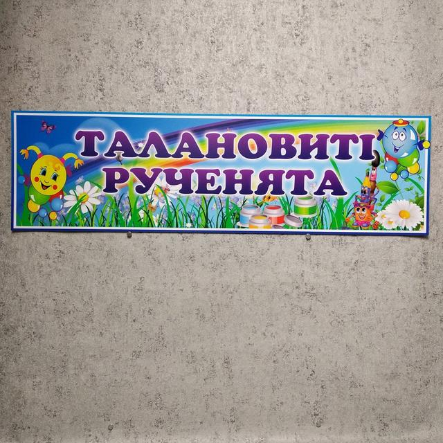 """20-3669 Шапка-заголовок""""Талановиті рученята"""" (Сонечко-Каппітошка)"""