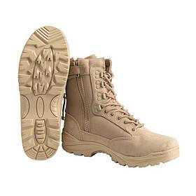 Mil-Tec Tactical Boots Zipper Khaki Взуття тактичне EU44