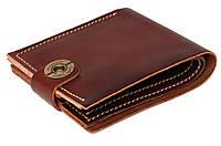 Кожаный кошелек ручной работы Gato Negro Classic мужской, коричневый (мужские кошельки из натуральной кожи)