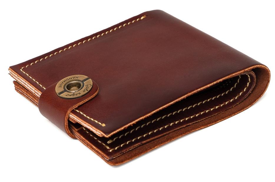 d4a4c2c0ecbf Кожаный кошелек ручной работы Gato Negro Classic мужской, коричневый (мужские  кошельки из натуральной кожи