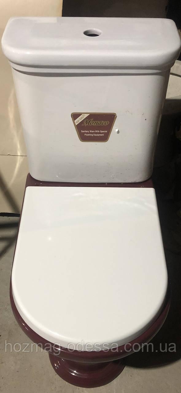 Сиденье белое для унитаза Monaco(Монако), АНАЛОГ! белое, микролифт