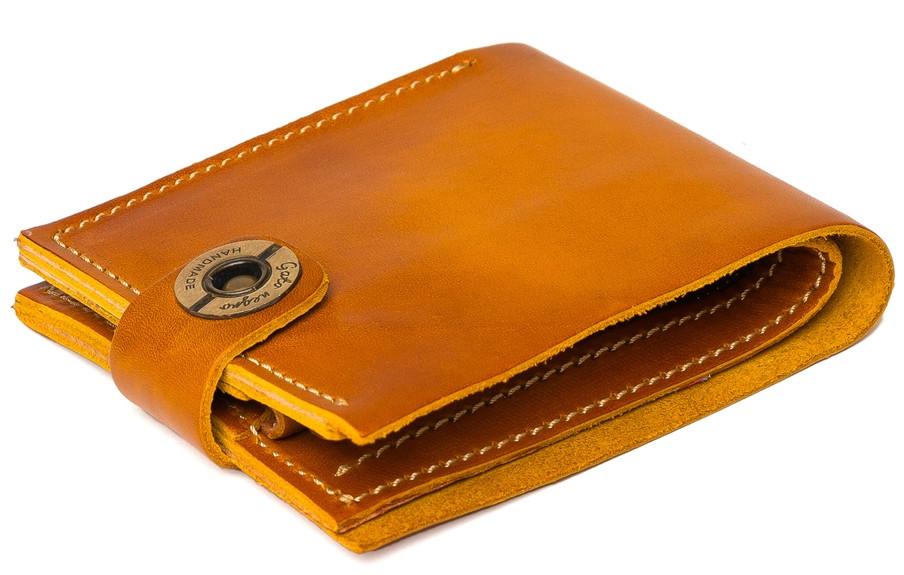 7cb529013ef8 Кожаный кошелек ручной работы Gato Negro Classic мужской, рыжый (мужские  кошельки из натуральной кожи)