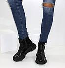 Демисезонные женские спортивные ботинки черные лаковые, фото 10