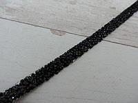 Страхова смужка на силіконі 1х40 см, чорний.