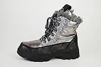 Ботинки женские на платформе серебристые Lonza 3951939