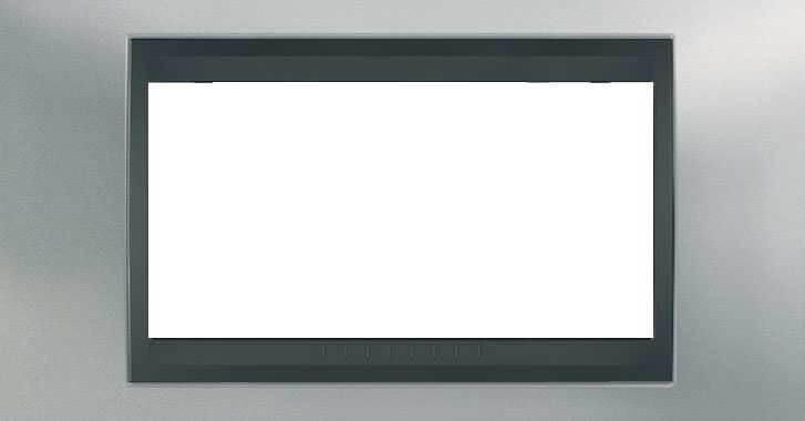 Рамка 4-модульная Итальянский дизайн Unica Top. Цвет Матовый хром/Графит MGU66.104.238