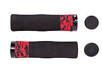 Грипсы BaceCamp EVA Ergo Foam, с замками, черно-красные