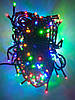 Гирлянда светодиодная цветная Мультиколор Led 300 (черный провод)