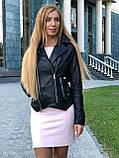 Женская кожаная куртка Fabio Monti, из кожи Джамбо, 42 ( 42, 44, 46, 48 ) черный, кожа 38, фото 3