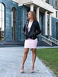 Жіноча шкіряна куртка Fabio Monti, з шкіри Джамбо, 42 ( 42, 44, 46, 48 ) чорний, шкіра 38, фото 4