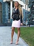 Женская кожаная куртка Fabio Monti, из кожи Джамбо, 42 ( 42, 44, 46, 48 ) черный, кожа 38, фото 6