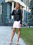 Жіноча шкіряна куртка Fabio Monti, з шкіри Джамбо, 42 ( 42, 44, 46, 48 ) чорний, шкіра 38, фото 7