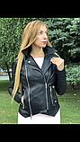 Женская кожаная куртка Fabio Monti, из кожи Джамбо, 42 ( 42, 44, 46, 48 ) черный, кожа 38, фото 9