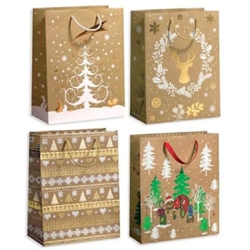 """Пакет подарочный бумажный M """"Christmas tree"""" 26*10*32см  только по 12 штук"""