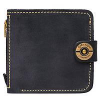 Кожаный кошелек ручной работы Gato Negro Jeans мужской, синий (мужские кошельки из натуральной кожи)