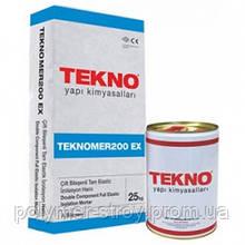 Двухкомпонентная Эластичная полимер-цементная гидроизоляция Teknomer 200 EX