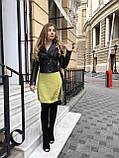 Женская кожаная куртка Fabio Monti, укороченная, 42 ( 42, 44, 46 ) черный, кожа 42, фото 5