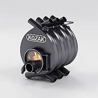 """Булерьян 00 - 100 м3 + стекло KOZAK печь на дровах 40 см топка стальная 4 мм конвекционная """"канадского"""" типа."""