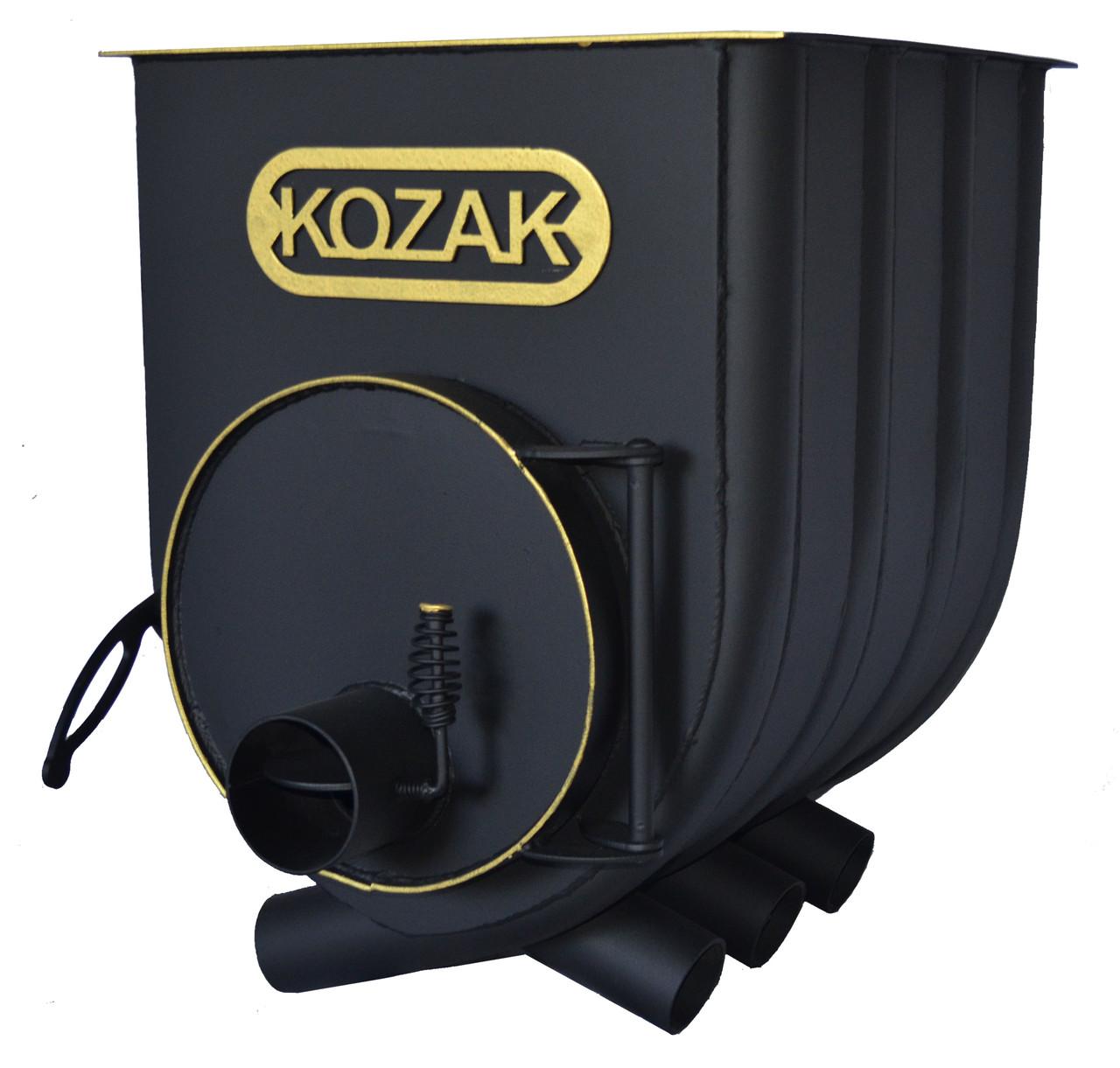 Булер'ян 00-120 м. куб з варильної поверхнею KOZAK топка на дровах 41 см піч сталева 4 мм конвекційна.