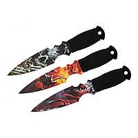 Набор легких ножей для метания (3 в 1)  в удобном чехле из плотной ткани, фото 1