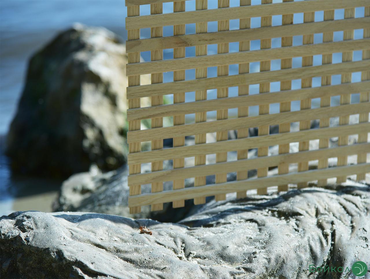 Деревянная декоративная решетка — 1S (Ольха, Бук, Клен, Ясень, Дуб)
