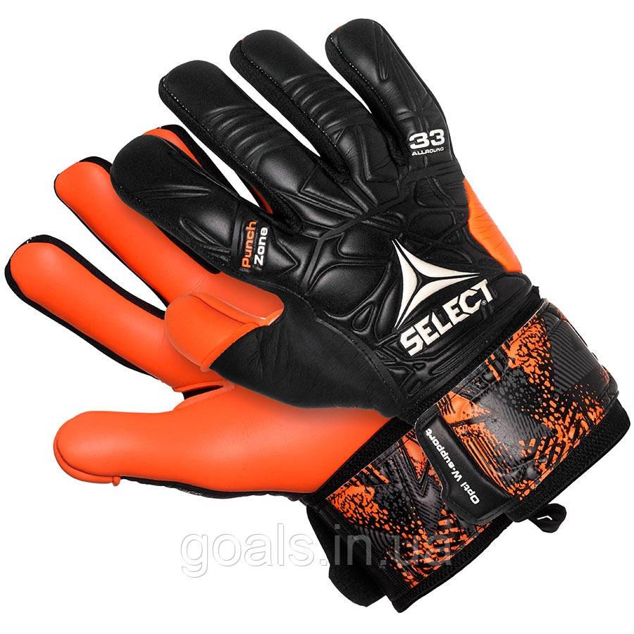 Перчатки вратарские SELECT 33 Allround (061), черн/оранж p.11