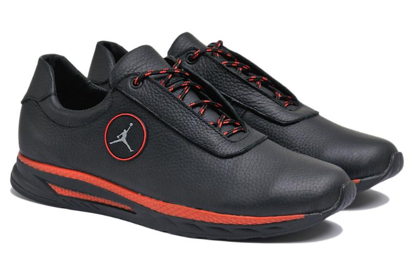 Чоловічі кросівки з натуральної шкіри Jordan S Red р. 46 47 48 49 50