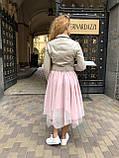 Женская кожаная куртка Deloras, укороченная с поясом, 42 ( 42, 44, 46 ) бежевый, кожа 93, фото 5