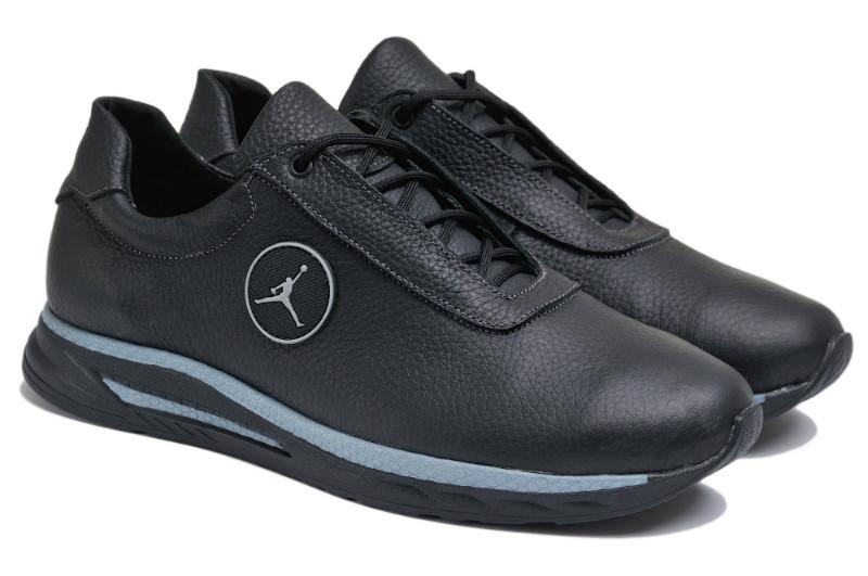 Чоловічі кросівки з натуральної шкіри Jordan S Black р. 46 47 48 49 50