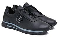 Чоловічі кросівки з натуральної шкіри Jordan S Black р. 46 47 48 49 50, фото 1