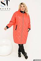 Куртка пальто стеганое красное