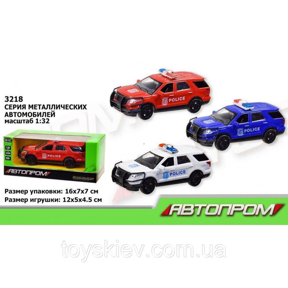 """Машина металл """"Полиция"""" красный Автопром 3218"""