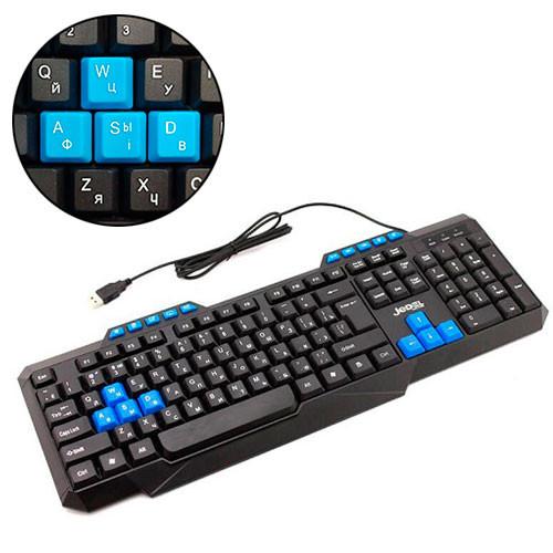 Клавиатура проводная USB мультимедийная, игровая, Jedel KB-518, черная
