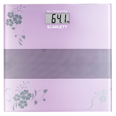 Весы напольные электронные SC-BS33E085 максимальный вес 150 кг точность измерения 100 г