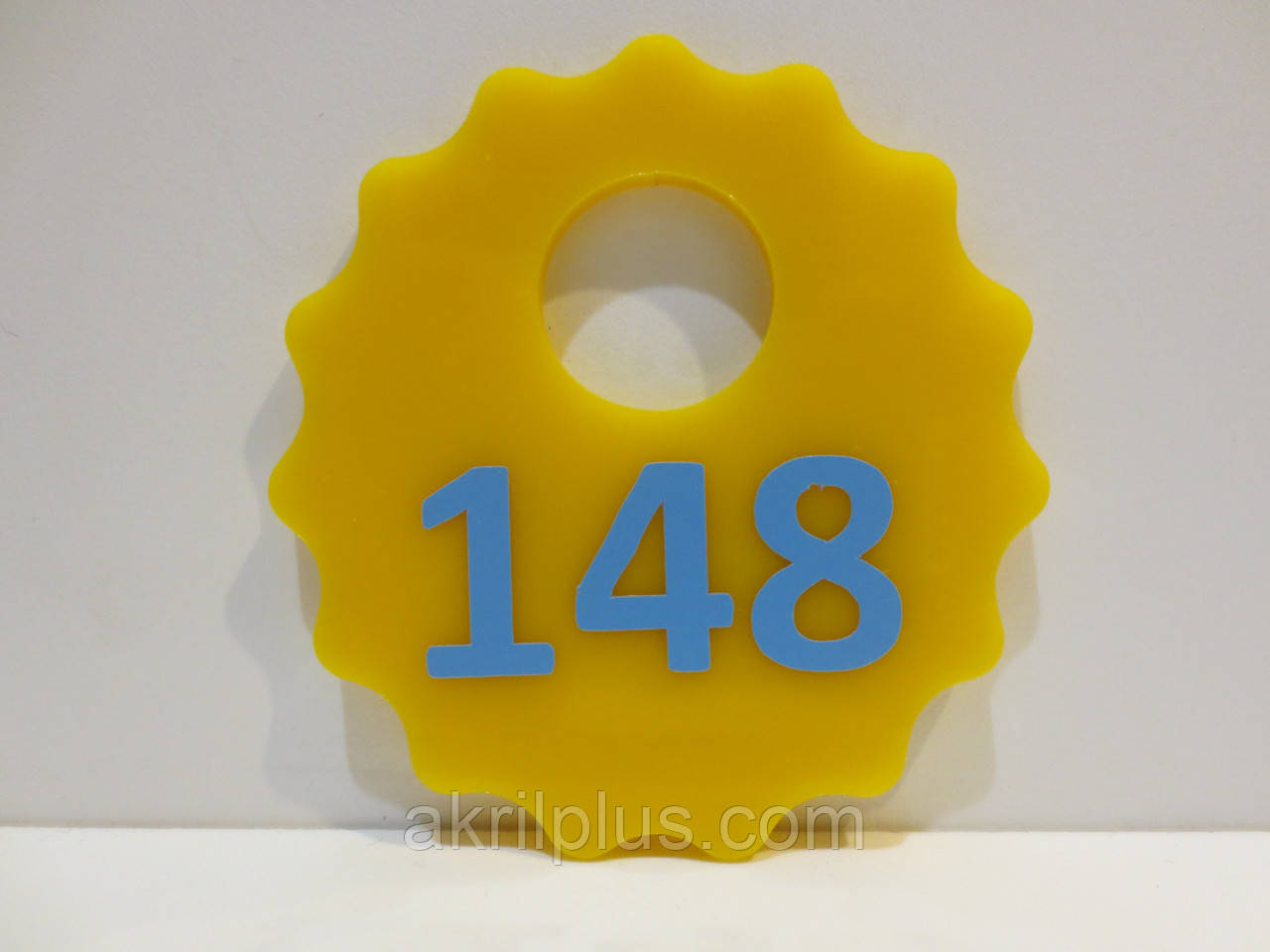 Брелки на ключи диаметр 60 мм желтые