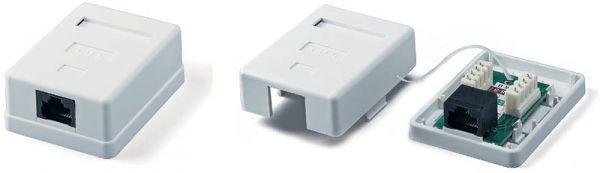 8731d029b4fdd UTP CAT5e компьютерная розетка внешняя один порт 1*RJ45, цена 36,84 ...