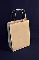 Пакет паперовий «Бурий КРАФТ» з крученими ручками 170х90х230 мм
